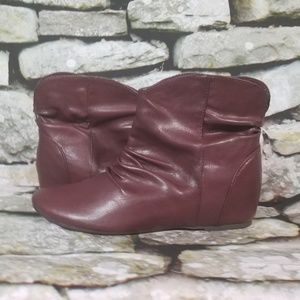 Bongo Maroon Brown Booties Size 10M